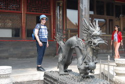 Here I am with a dragon in the Forbidden City in Beijing