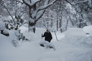"Rebecca in February ""Snowmageddon"""